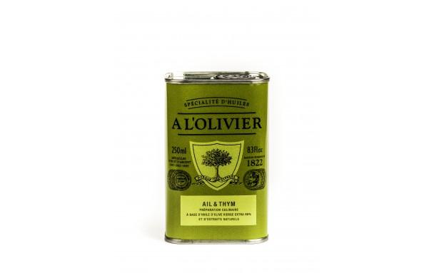 Huile d'olive ail et thym
