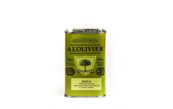 Huile d'olive basilic